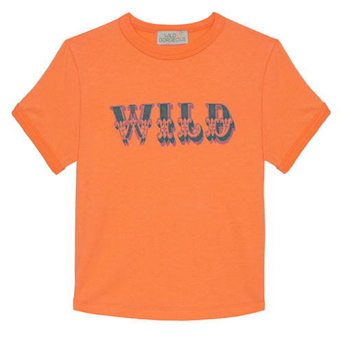 Wild & Gorgeous Wild Tee Orange (t-shirt)-1