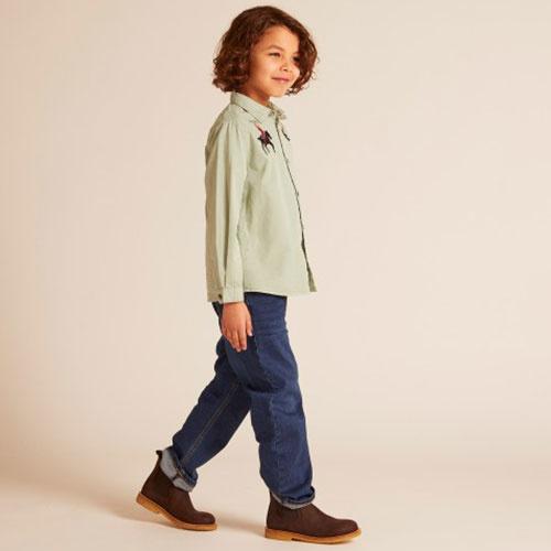 Wild & Gorgeous Bucking Broncho Shirt Slate (blouse)-3