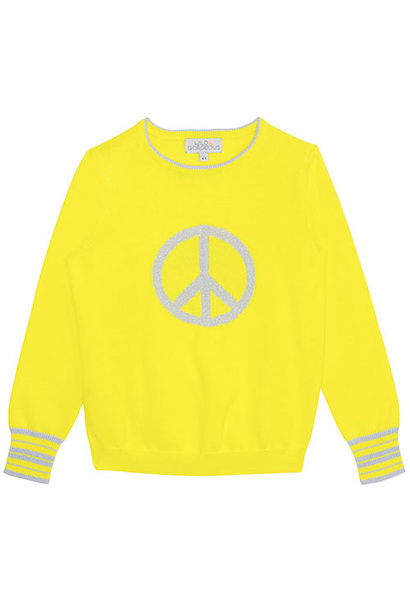 Wild & Gorgeous Peace Sign Jumper Yellow (Trui)