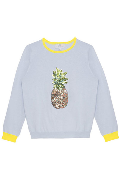 Wild & Gorgeous Pineapple Jumper Blue (Trui)