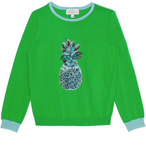 Wild & Gorgeous Pineapple Jumper Green (Trui)-1