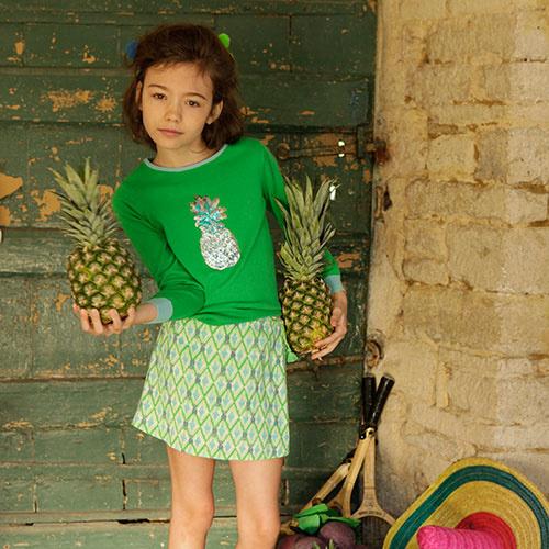 Wild & Gorgeous Pineapple Jumper Green (Trui)-2