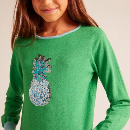 Wild & Gorgeous Pineapple Jumper Green (Trui)-4