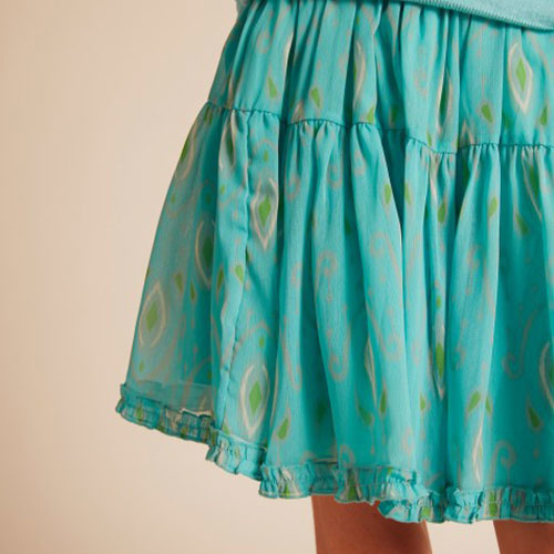Wild & Gorgeous Ikat Pop Skirt Aqua (Rok)-3