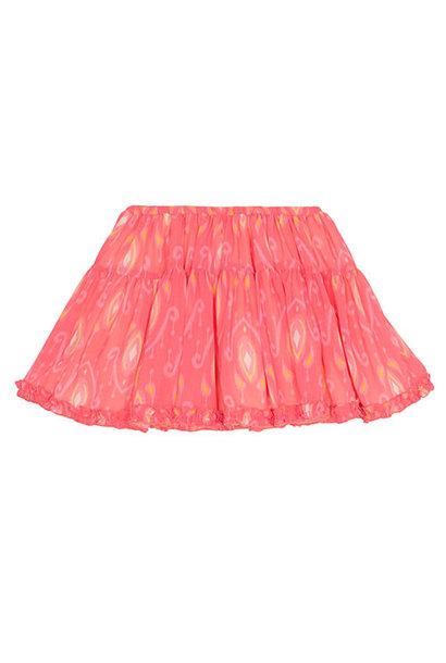 Wild & Gorgeous Ikat Pop Skirt Coral (Rok)