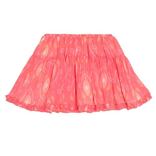 Wild & Gorgeous Ikat Pop Skirt Coral (Rok)-1