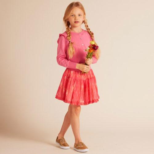 Wild & Gorgeous Ikat Pop Skirt Coral (Rok)-2
