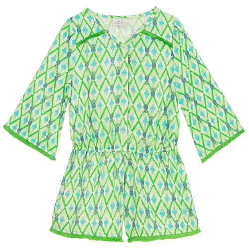 Wild & Gorgeous Beau Playsuit Green (Jumpsuit)-1