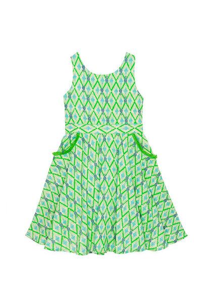 Wild & Gorgeous Colada Dress Green (Jurk)