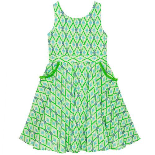 Wild & Gorgeous Colada Dress Green (Jurk)-1