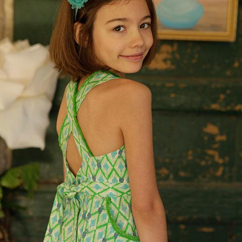 Wild & Gorgeous Colada Dress Green (Jurk)-4
