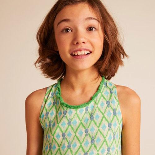 Wild & Gorgeous Colada Dress Green (Jurk)-5