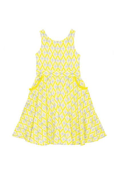 Wild & Gorgeous Colada Dress Yellow (Jurk)