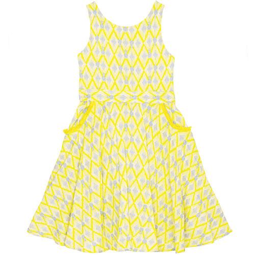 Wild & Gorgeous Colada Dress Yellow (Jurk)-1