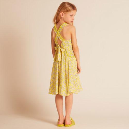 Wild & Gorgeous Colada Dress Yellow (Jurk)-3