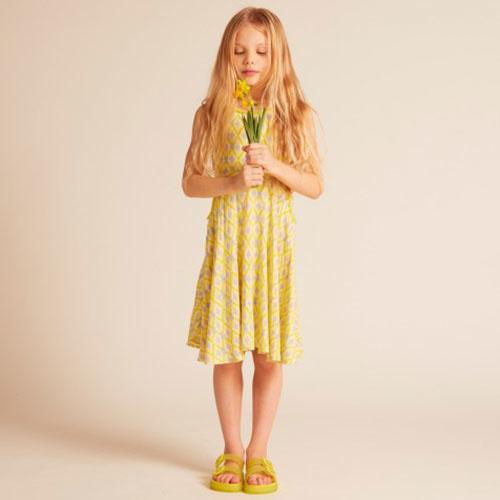 Wild & Gorgeous Colada Dress Yellow (Jurk)-4
