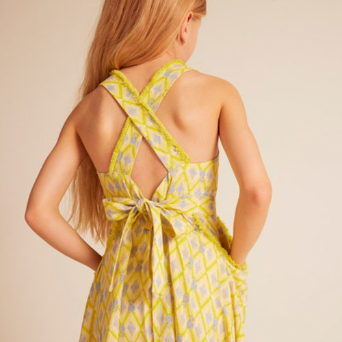 Wild & Gorgeous Colada Dress Yellow (Jurk)-5