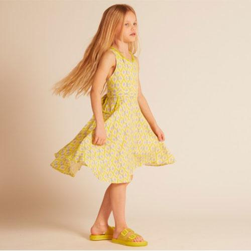 Wild & Gorgeous Colada Dress Yellow (Jurk)-2