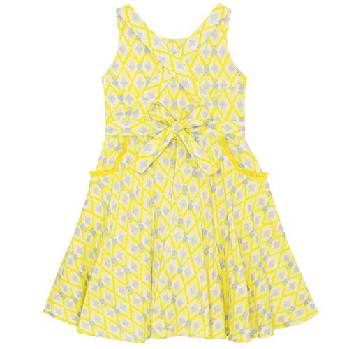 Wild & Gorgeous Colada Dress Yellow (Jurk)-6