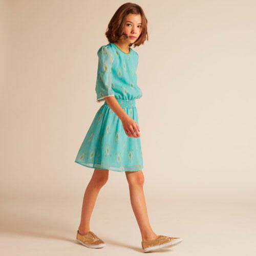 Wild & Gorgeous Henry Ikat Dress Turquiose (Jurk)-2