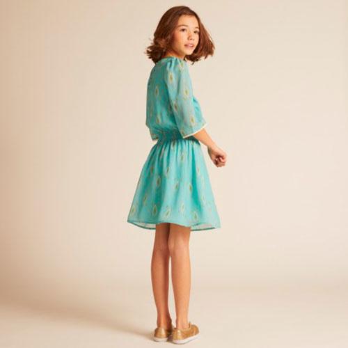 Wild & Gorgeous Henry Ikat Dress Turquiose (Jurk)-3