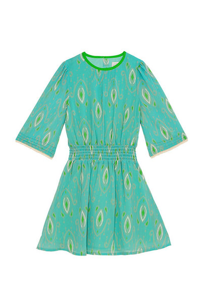Wild & Gorgeous Henry Ikat Dress Turquiose (Jurk)