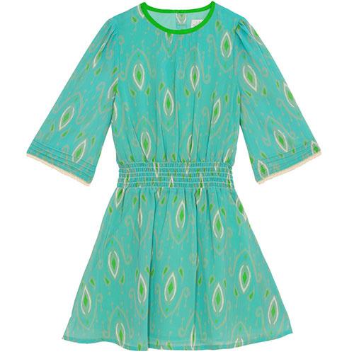 Wild & Gorgeous Henry Ikat Dress Turquiose (Jurk)-1