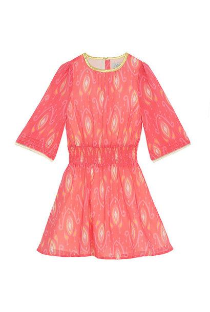 Wild & Gorgeous Henry Ikat Dress Coral (Jurk)