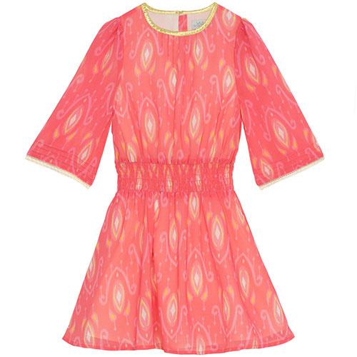 Wild & Gorgeous Henry Ikat Dress Coral (Jurk)-1