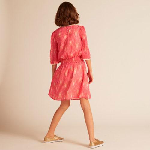 Wild & Gorgeous Henry Ikat Dress Coral (Jurk)-3