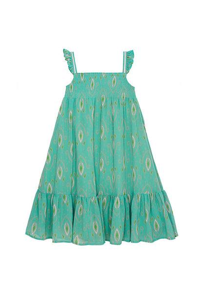 Wild & Gorgeous Goa Dress Turquiose (Jurk)