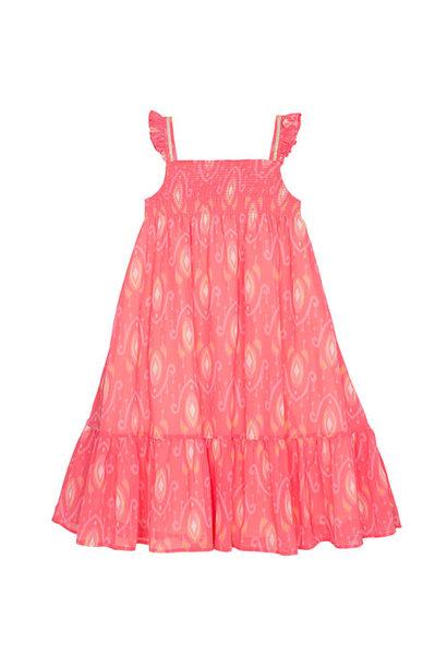Wild & Gorgeous Goa Dress Coral (Jurk)