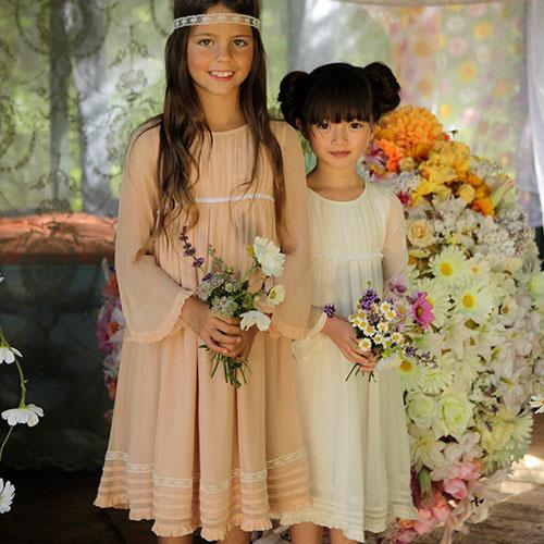 Wild & Gorgeous Forget-me-not Dress Peach (Jurk)-2