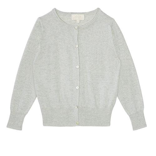 Wild & Gorgeous Silver Lurex Cardigan (Vest)-1