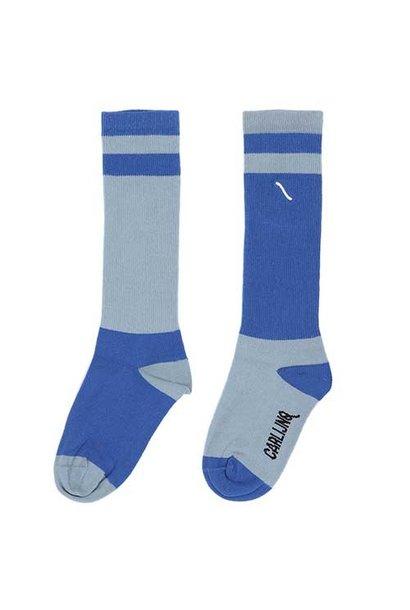 CarlijnQ Knee Socks Light Blue / Blue (Sokken)