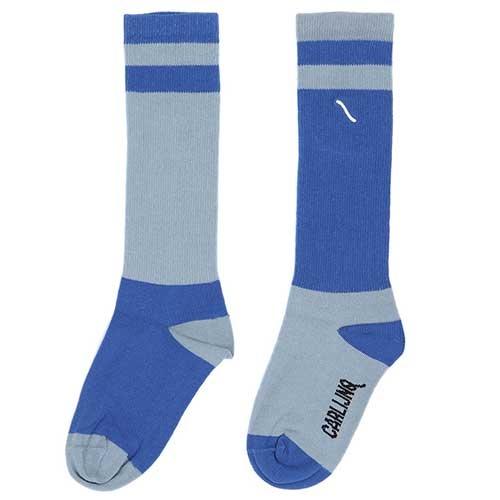 CarlijnQ Knee Socks Light Blue / Blue (Sokken)-1