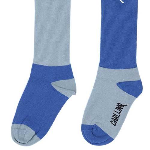 CarlijnQ Knee Socks Light Blue / Blue (Sokken)-5