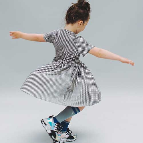 CarlijnQ Knee Socks Light Blue / Blue (Sokken)-2