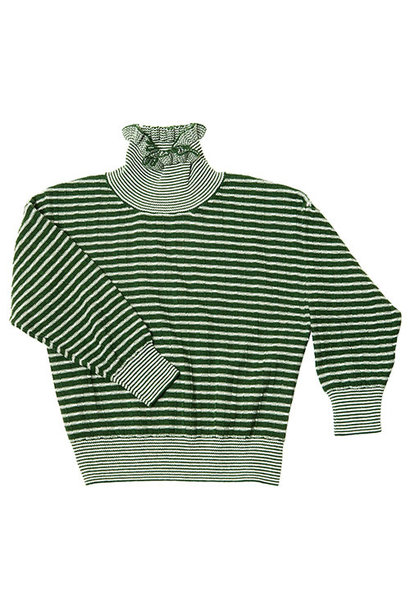 CarlijnQ Knitted Sweater Striped Green (Trui)