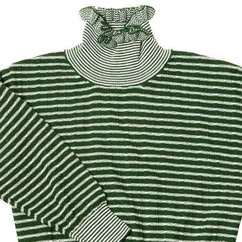 CarlijnQ Knitted Sweater Striped Green (Trui)-2