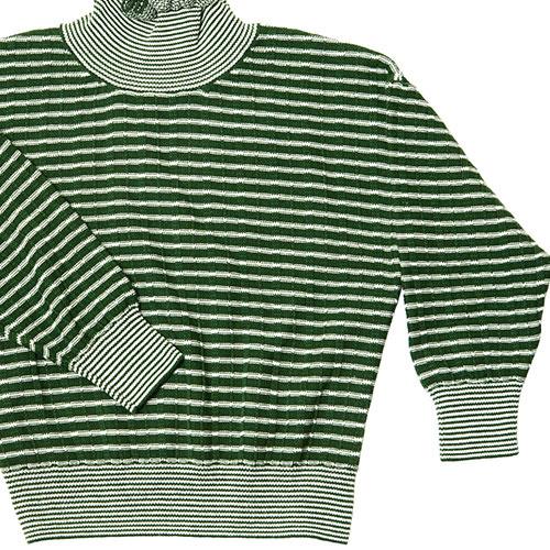 CarlijnQ Knitted Sweater Striped Green (Trui)-3