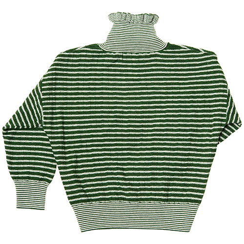 CarlijnQ Knitted Sweater Striped Green (Trui)-4
