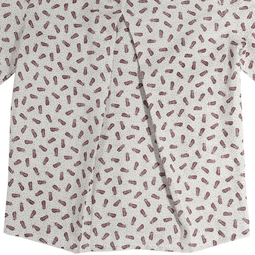 i leoncini Girl Shirt with Feather Print (Blouse)-4
