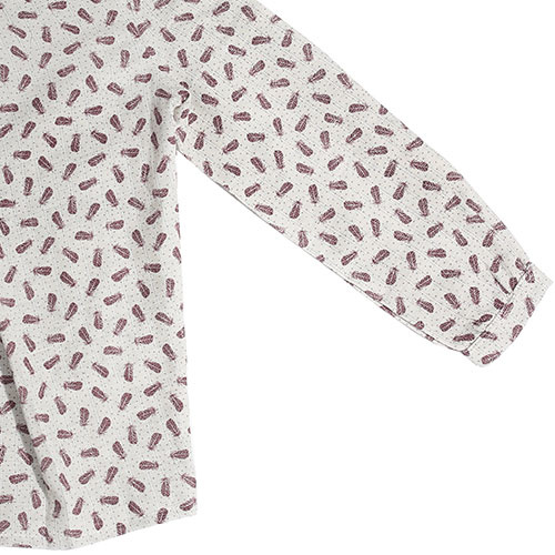 i leoncini Girl Shirt with Feather Print (Blouse)-5