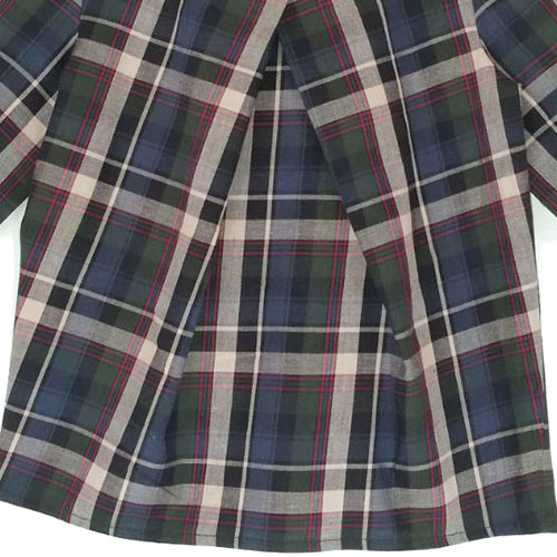 i leoncini Girl Shirt with Checkered Print (Blouse)-4