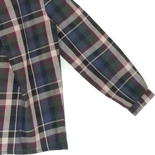 i leoncini Girl Shirt with Checkered Print (Blouse)-5