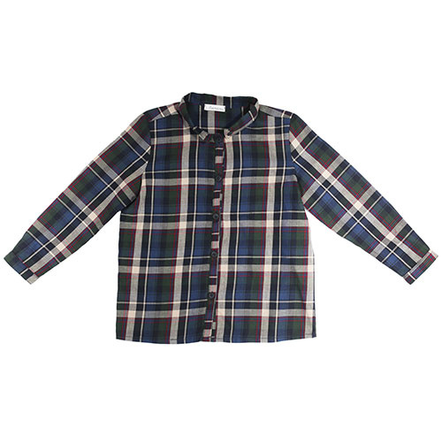 i leoncini Boy Shirt with Checkered Print (Blouse)-1