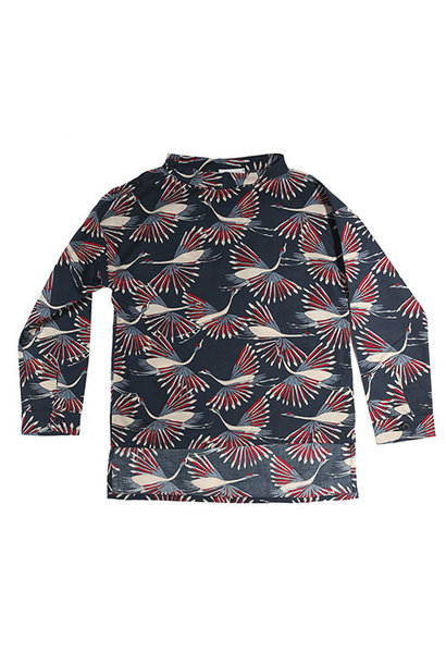 i leoncini Shirt with Peacock Print (Blouse)