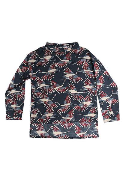 i leoncini Shirt with Peacock Print (Blouse)
