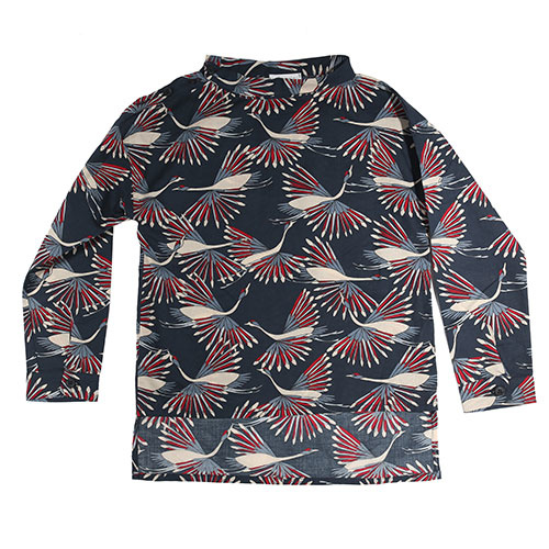 i leoncini Shirt with Peacock Print (Blouse)-1